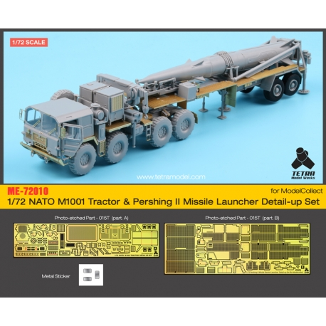 1/72 NATO M1001 Tractor & Pershing II Missile Launcher Detail-Up Set (for Model Collect)