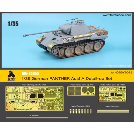 1/35 German PANTHER  Ausf. A Detail-Up Set for HOBBYBOSS