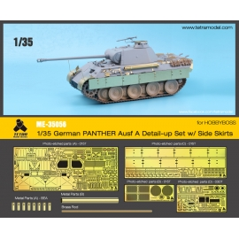 1/35 PANTHER Ausf. A Detail-Up Set w/ Side Skirts for HOBBYBOSS