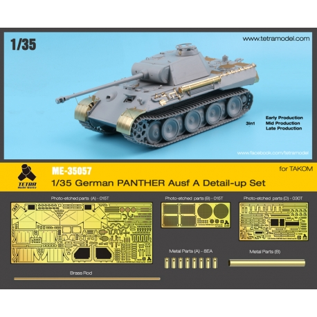 1/35 German PANTHER Ausf. A Detail-Up Set for TAKOM