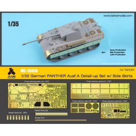 1/35 PANTHER Ausf. A Detail -Up Set w/ Side Skirts for TAKOM