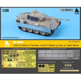 1/35 Pz. Kpfw. V Panther Ausf. G Detail-up Set w/ Side Skirts for ACADEMY