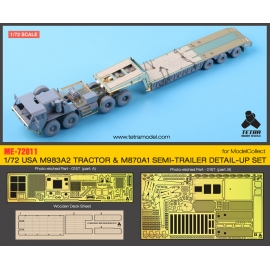 1/72 USA M983A2 TRACTOR & M870A1 SEMI-TRAILER detail-up set (for ModelCollect)