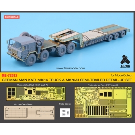 1/72 GERMAN MAN KAT1 M1014 TRUCK & M870A1 TRAILER DETAIL-UP SET (for ModelCollect)