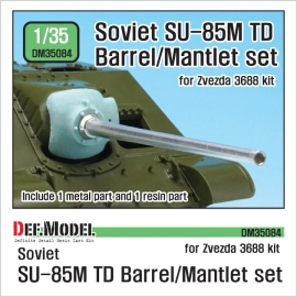 SU-85M TD D-5S Barrel / Mantlet set 1/35