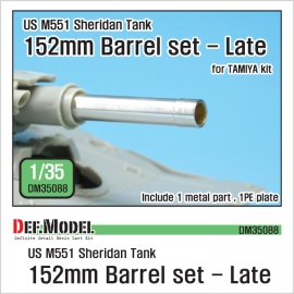US M551 Sheridan 152mm metal barrel set - Late 1/35
