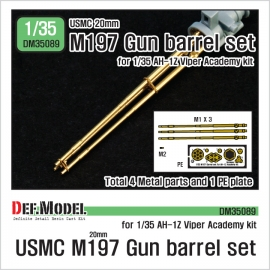 USMC M197 20mm Gun metal barrel set for 1/35 AH-1Z Viper