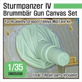 Sturmpanzer IV Brummbar Mid/Late Canvas cover set 1/35