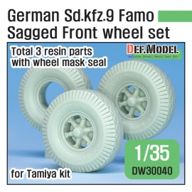 WWII German Sd.kfz.9 Famo Sagged Front Wheel set 1/35