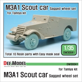 US M3A1 Scout car Sagged Wheel set 1/35