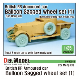 British RR Armoured car balloon Sagged Wheel set-1 1/35