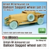 British RR Armoured car balloon Sagged Wheel set-1 1/35
