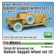 British RR Armoured car balloon Sagged Wheel set-2 1/35