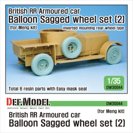 British RR Armoured car balloon Sagged Wheel set-2 1/35