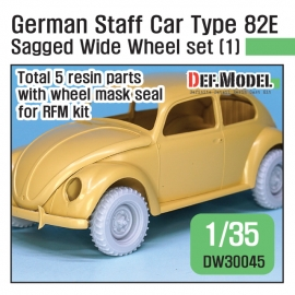 WWII German staff car Type 82E Wide Wheel set (1) 1/35