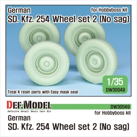German Sd. Kfz. 254 Wheel set 2 - No Sag 1/35