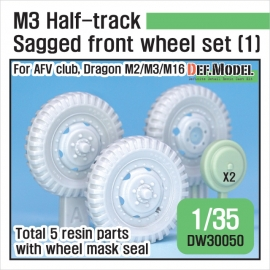 US M2/M3 Half-Track Sagged Front Wheel set 1/35