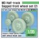 US M2/M3 Half-Track Sagged Front Wheel set 2 1/35