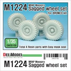 M1224 MRAP MaxxPro Sagged Wheel set 1/35