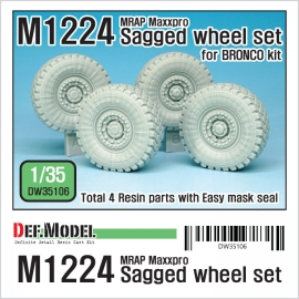 M1224 MRAP Maxx Pro Sagged Wheel set 1/35