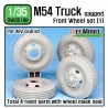 US M54A2 Cargo Truck Sagged Front Wheel set (1) 1/35