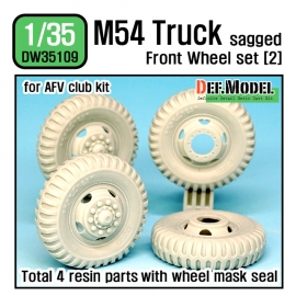 US M54A2 Cargo Truck Sagged Front Wheel set (2) 1/35