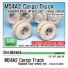 US M54A2 Cargo Truck Sagged Rear Wheel set- Heavy Loaded 1/35