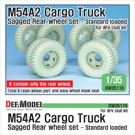 US M54A2 Cargo Truck Sagged Rear Wheel set- Standard loaded 1/35