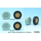 US M54A2 Cargo Truck Sagged Rear Wheel set- Standard loaded 1/35