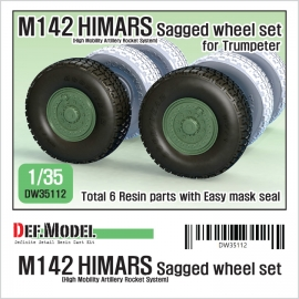 US M142 HIMARS Sagged Wheel set 1/35
