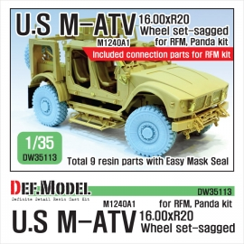 US M1240A1 M-ATV Sagged Wheel set 1/35