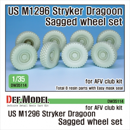 US M1296 Stryker Dragoon Sagged Wheel set 1/35