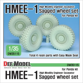 HMEE-1 Sagged Wheel set 1/35