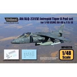 AN/ALQ-231(V) Intrepid Tiger II Pod set (for 1/72 USMC AV-8B & F/A-18)