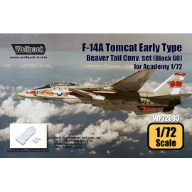 F-14A Tomcat Early Type Beaver Tail Conv. set - Block 60 (for Academy 1/72)