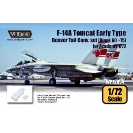 F-14A Tomcat Early Type Beaver Tail Conv. set - Block 60 ~ 75 (for Academy 1/72)