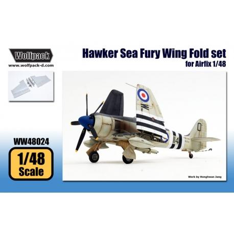 Hawker Sea Fury Wing Fold set (for Airfix 1/48)