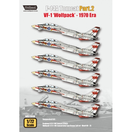 F-14A Tomcat Part.2 - VF-1 'Wolfpack' 1970 Era (for Academy 1/72)