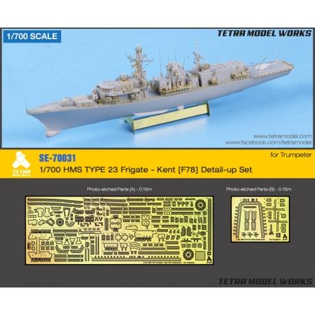 [SE-70031] 1/700 HMS TYPE 23 Frigate - Kent [F78] Detail-up Set (for Trumpeter)