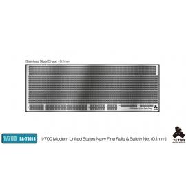 [SA-70013] 1/700 Modern United States Navy Fine Rails & Safety Net (0.1mm)