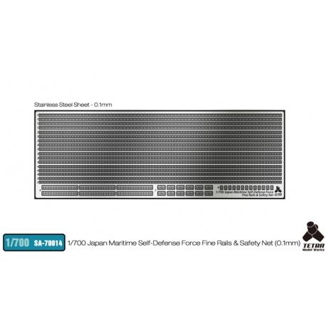 [SA-70014] 1/700 Japan Maritime Self-Defense Force Fine Rails & Safety Net (0.1mm)