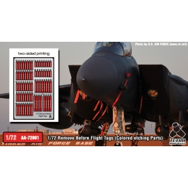 1/72 Remove Before Flight Tags (Colored etching Parts)