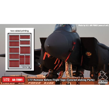 [AA-72001] 1/72 Remove Before Flight Tags (Colored etching Parts)
