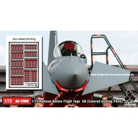 [AA-72002] 1/72 Remove Before Flight Tags UK (Colored etching Parts)