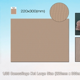 1/35 Camouflage Net Large Size (220mm x 300mm Tan)