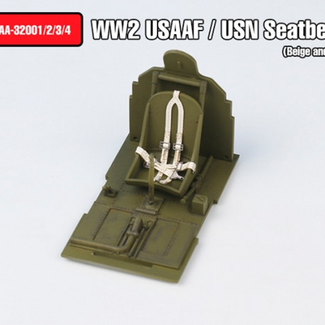 WW2 USAAF / USN Seatbelts set Type.1(Beige  color)