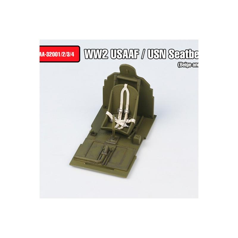 WW2 USAAF / USN Seatbelts set Type 1(Beige color)