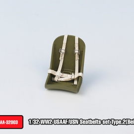 WW2 USAAF / USN Seatbelts set Type.2(Beige color)