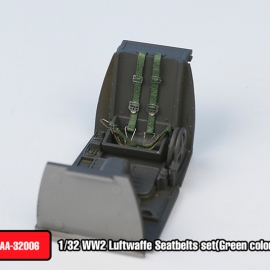 WW2 LUFTWAFFE Seatbelts set(Green color)