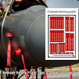 1/32 Remove Before Flight Tags (Colored etching Parts)